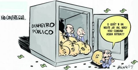Charge: Horas Extras no Congresso Nacional